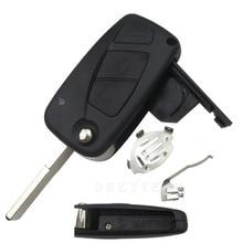 Flip key Remote Car Key Case Shell For FIAT 500 Punto Ducato Stilo Panda Doblo Bravo 3 Button Uncut Blade auto Key blank Cover