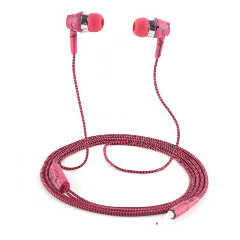 Crack Earphone With Microphone 3.5mm Jack Bass Auricuares Wired USB AUX In-Ear fone de ouvido For Xiaomi iphone 8