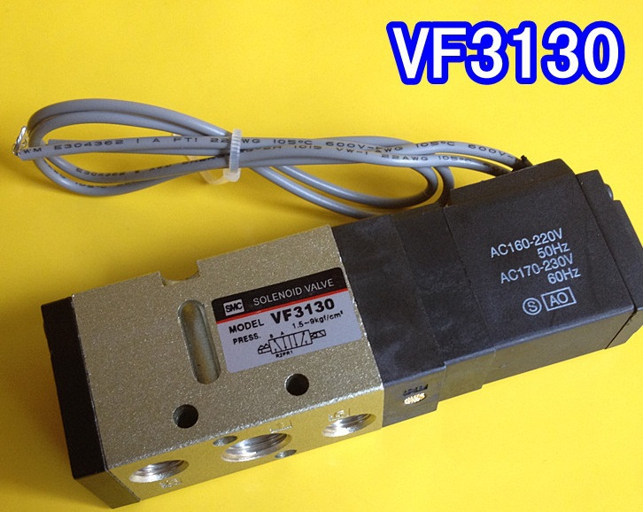 ФОТО free shipping 2Position 5 Port SMC Air Solenoid Valves VF3130 2/5 Pneumatic Control Valve VF3130-5GB-02