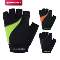 Winmax Short Fitness Reflective Cycling Gloves Half Finger Camping Hiking Bicycle Gloves With Gel Foam Pad