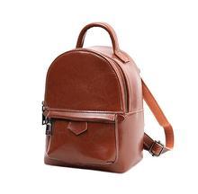 Amasie Новое поступление винтажные женские рюкзак классический натуральная кожа школьная сумка небольшой фирменный дизайн сумка sac dos EGT0358