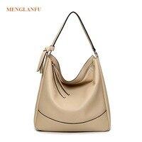 Brand women's handbag leather casual Famale shoulder bag Fashion korean messenger handbag women solid hobos