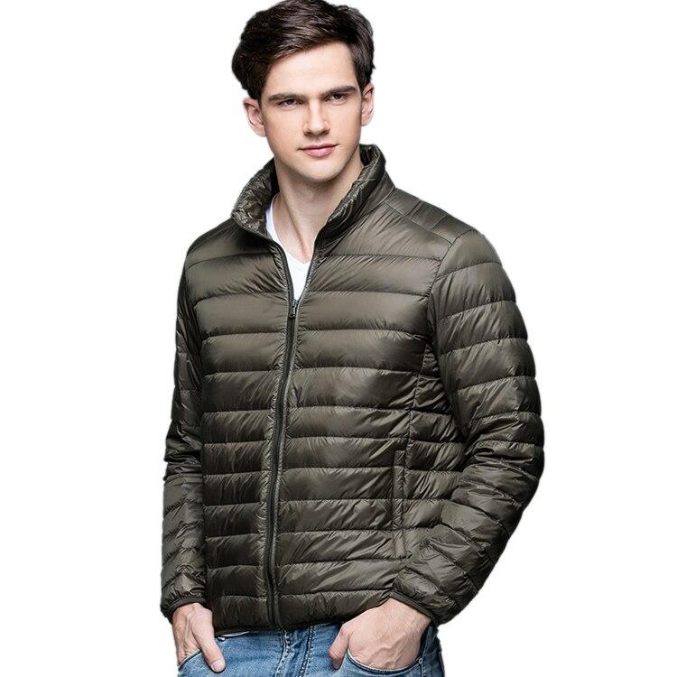 Лидер продаж! Осень-зима человек утка Подпушка куртка ультра легкий тонкий плюс Размеры Весенние жакеты Для мужчин стенд воротник верхняя одежда пальто