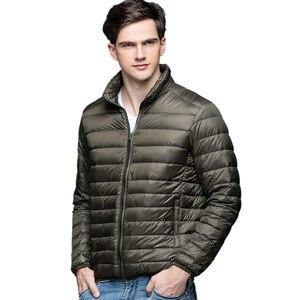 Image 1 - Blouson de printemps en duvet de canard pour homme, ultraléger et mince, grande taille, nouvelle collection automne hiver, manteau dextérieur