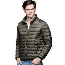 HOT! 2016 herbst Winter mann Ente Daunenjacke Ultra Light Dünne Plus Größe Winter Jacken Männer Stehen Kragen Oberbekleidung Mantel