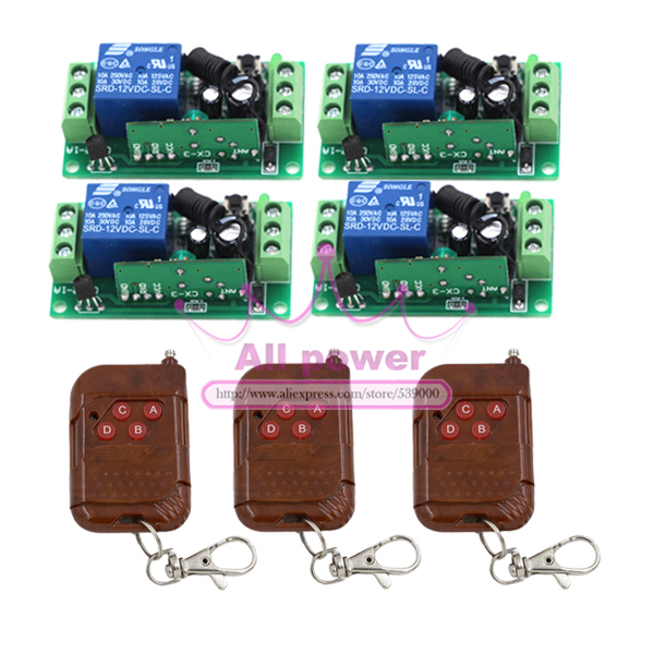 Hot Sales DC 12V 10A 1CH 315MHZ Wireless RF Remote Control Switch 1 Channel Board for Mechanical Switch Remote 12v 8 ch channel rf wireless remote control switch