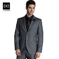 Заказ Бизнес костюм Для мужчин 2 Пуговицы Свадебный костюм Индивидуальный заказ Fit Смокинги для женихов 2 шт.
