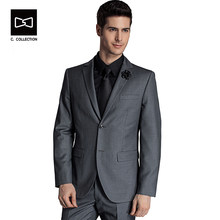 Tailor-made Business Suit Men 2 Buttons Wedding Suit Custom Made Fit Tuxedos 2 pieces(China)