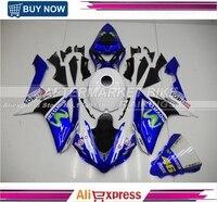 2007 2008 R1 ABS Plastic Fairing Cover For Yamaha 07 09 YZF R1 Motorbike Fairings Kit MOVISTAR Top Grade Quality Bodyworks