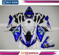 2007 2008 R1 ABS Plastic Fairing Cover For Yamaha 07 09 YZF R1 Motorbike Fairings Kit MOVISTAR Top Grade Quality Bodyworks