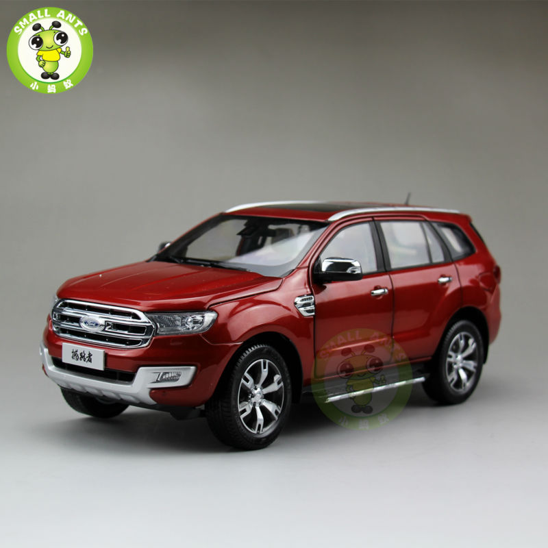 1:18 Scale China Ford Everest SUV Form Ranger Diecast Car Model Toys Red brand military relogio masculino shark sport watch men erkek kol saati chronograph leather band clock wrist quartz watch sh253