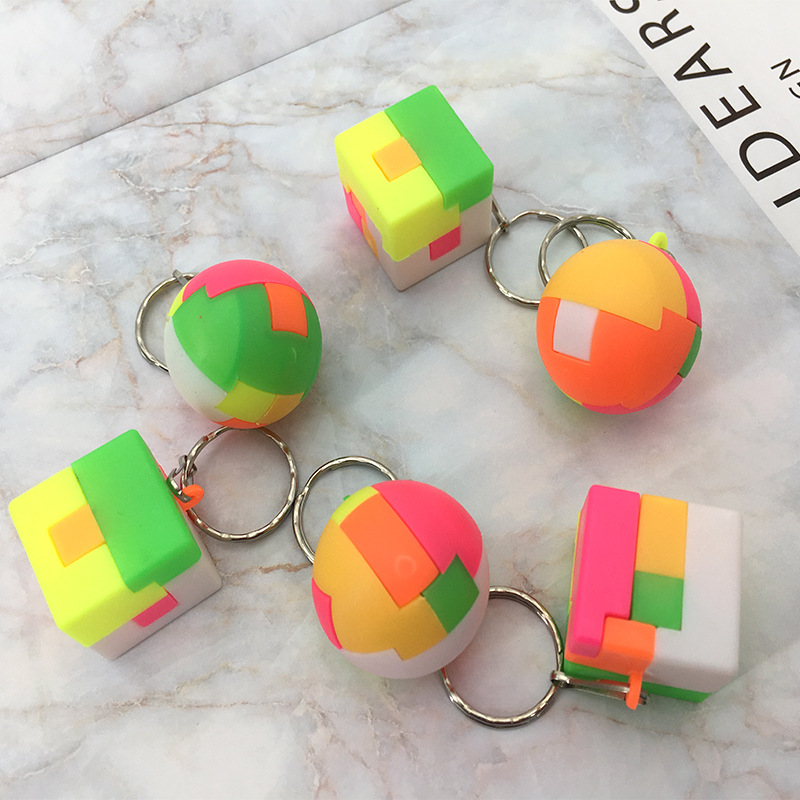 Kids 3D Puzzle Toys Creative Cube Rainbow Football Square ...