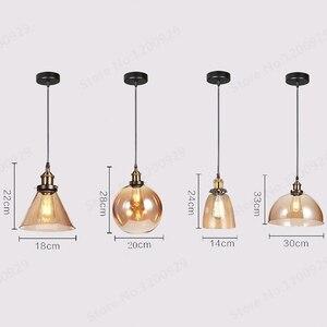 GZMJ винтажный промышленный Лофт светодиодный подвесной светильник стеклянный держатель Лофт ретро барная лампа абажур светильник для дома...