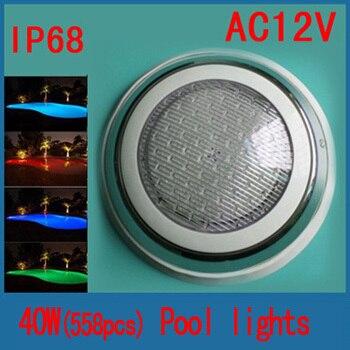 LED Бассейны Light 552 шт. 40 Вт Подводные лампы контроллер настенный монохромные СВЕТОДИОДНЫЕ фонари бассейн
