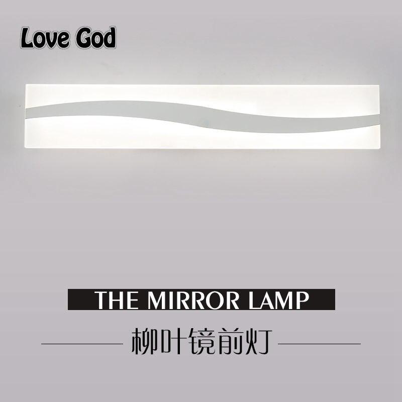 40 cm 60 cm luce dello specchio led bagno specchio lampada da parete di vetro