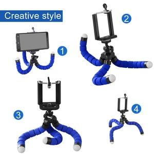 Гибкий штатив-осьминог для мобильных телефонов, выдвижной держатель для телефона, подставка для селфи, крепление, зажим, аксессуары для стайлинга