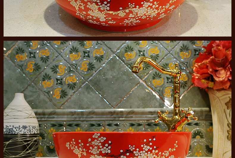 China Painting ceramic wash basins counter top sink bathroom sinks ceramic vessel wash basin (2)