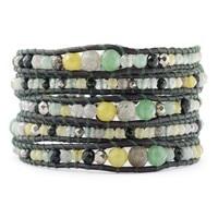 2013 Latest Style Handmade Jade Pyrite Onyx Fashion Wrap Bracelet Women And Men
