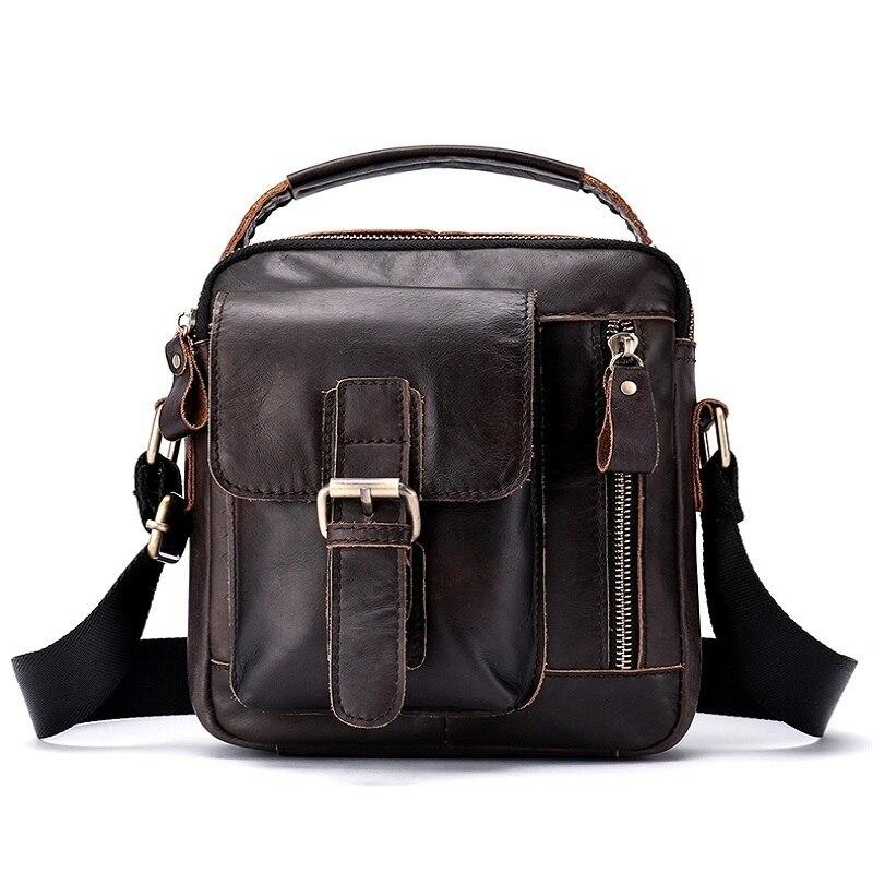 492628e0cc2f 2018 Men `s Shoulder Bag Genuine Leather Messenger Bag Vintage Men `s Hand Bags  Leather Flap Man Handle-top Crossbody Bags For Men