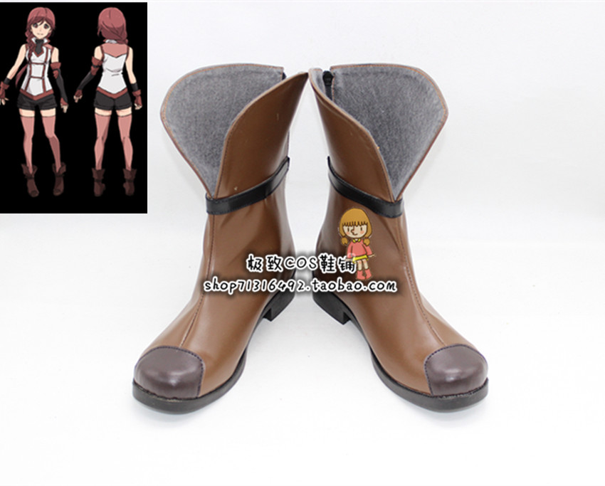 Grimgar of Fantasy and Ash Yume cosplay Shoes Boots Custom Made 3778
