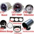 """Universal 2 """"52mm 12 V Car Gauge Boost LED Del Coche/TEMP EXT/Cuentakilómetros/60mm Gauge/1 O 3 Agujeros Gauge Meter/Pod Montaje Titular"""