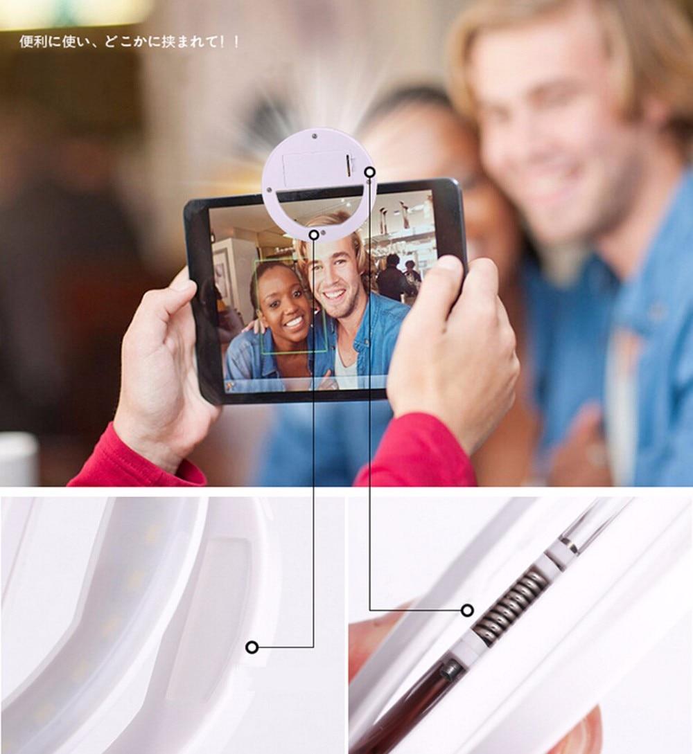 Noble ontwerp Luxe LED Flitslicht Selfie Lichtgevende telefoon Ring - Camera en foto - Foto 3