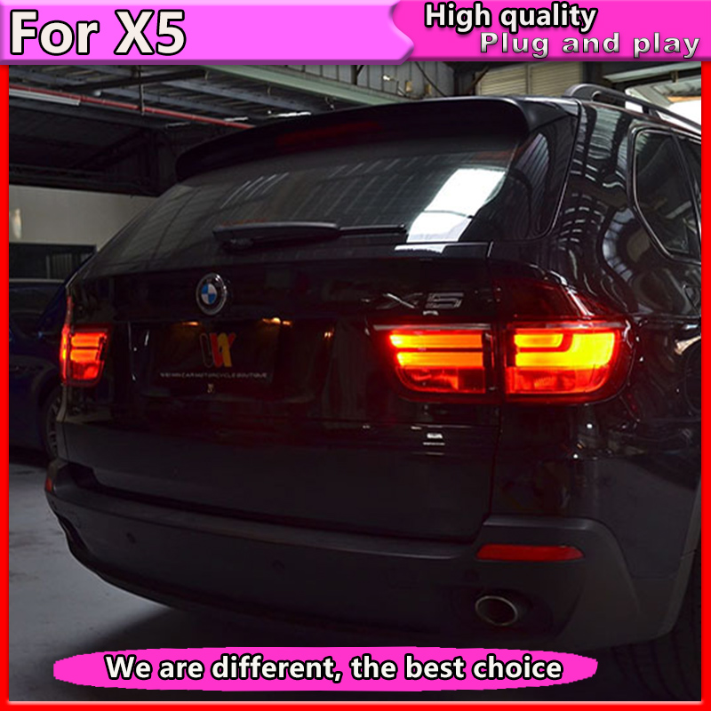 Car Styling for BMW X5 e70 2007-2013 taillight  for BMW X5 Rear Lamp DRL+Brake+Park+Signal light made in taiwan