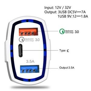 Image 5 - 빠른 충전 3.0 자동차 충전기 5 v 3.5a qc3.0 pd usb 유형 c 빠른 충전 듀얼 자동차 휴대 전화 충전기 아이폰 7 삼성 xiaomi