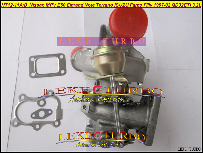 Free Ship Turbo HT12-11A HT12-11B 14411-1W400 144111W400 For Nissan MPV E50 Elgrand Terrano For ISUZU Fargo Filly QD32ETI 3.2L