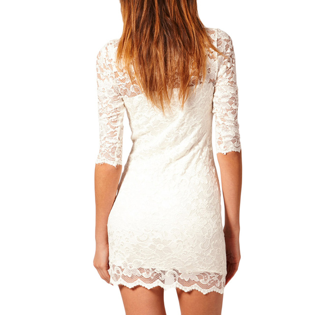 Bodycon Peplum Floral Lace Dress