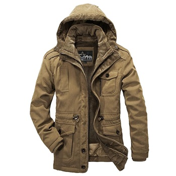 Winter Parka Men Jacket Thick Warm Windbreaker -20 Degree Fleece Jacket Men Hat And Liner Detachable Winter Coat Mens Outerwear