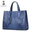 FOXER famous brand women genuine crocodile leather designer handbags   ote Female bags