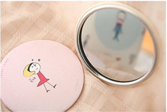 1pcs Color Random girl mini pocket makeup Makeup Mirror astro 5th mini album dream part 02 random cover release date 2017 11 02