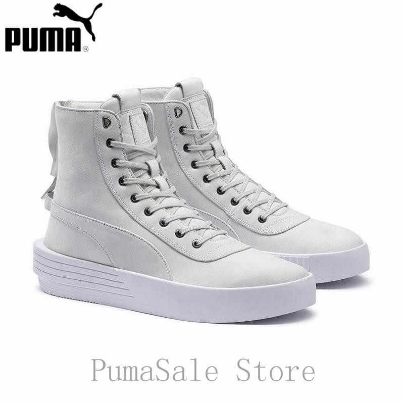 ed79b7651ef Puma XO Parallel The Weeknd Mens Sneaker 365039 01 White Color High Top Badminton  Shoes Lace