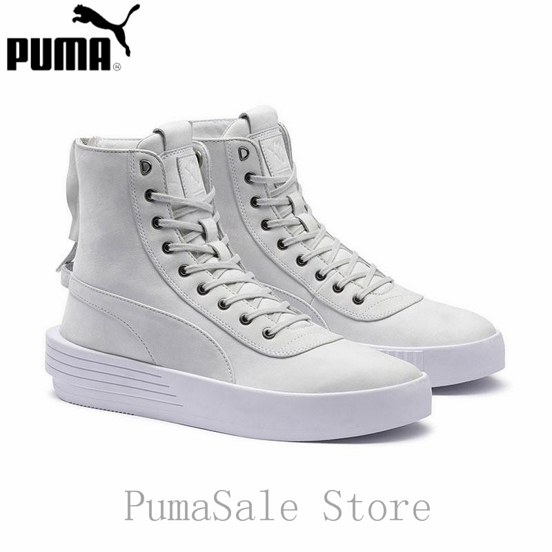 Puma XO Parallel The Weeknd Mens Sneaker 365039 01 White Color High Top Badminton Shoes Lace Up Leather Sport Men Shoes 39-44.5