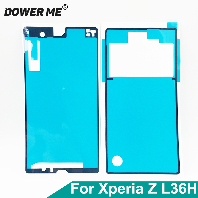 Dower Me Front Frame LCD Back <font><b>Battery</b></font> Cover Waterproof Adhesive Full Set Sticker Glue For <font><b>Sony</b></font> <font><b>Xperia</b></font> <font><b>Z</b></font> L36H LT36 <font><b>C6602</b></font> C6603 image