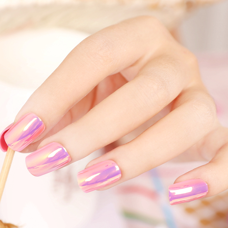 Fashion Wedding Tips High Light Reflective Mirror Fake Nails Tips Red and Deep Purple Full Full Nail Tips Square Faux Ongles-in False Nails from ...