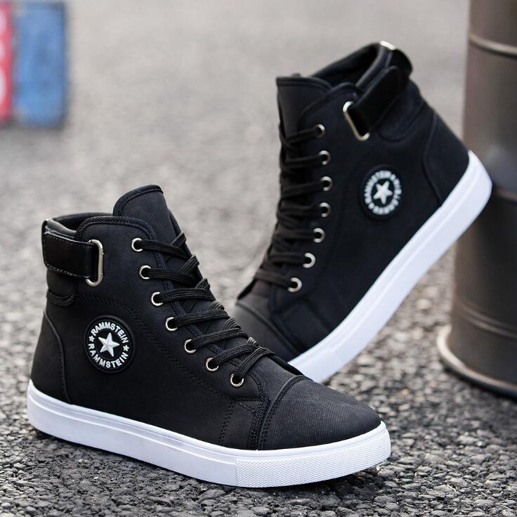 men canvas black shoes near