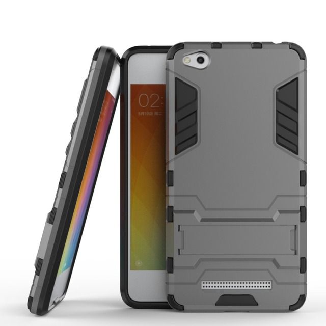 factory price a5bdd 3952c US $2.49 6% OFF|For Xiaomi Redmi 4A Case Slim Robot Armor Kickstand  Shockproof Rugged Rubber Hard Back Case For Xiaomi Redmi 4a Phone Cover  5.0
