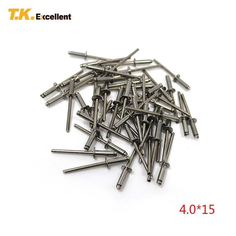 Tuercas de remache ciego 20 piezas M3-M8 Tornillos de inserci/ón de tuerca de remache ciego roscados de cabeza plana de acero inoxidable M3