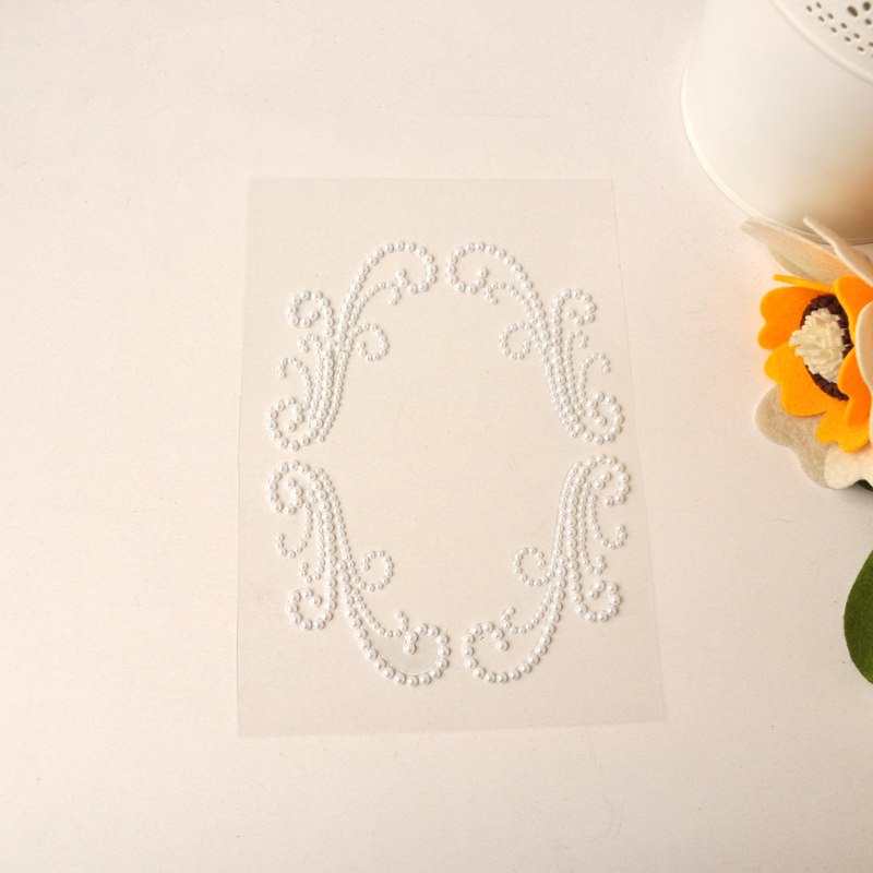 QITAI 6Pcs/Lot White Plastic Pearl Sticker Wedding Decorations Natural Color Family Chri ...