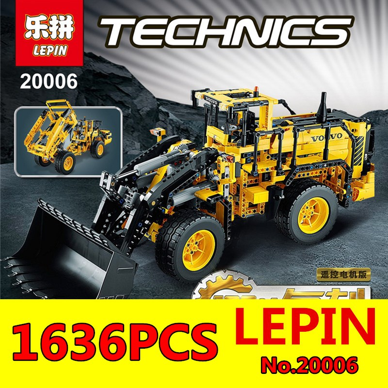 Wheel Loader Model Building Blocks LEPIN 20006 1636Pcs Technic Series Volvo L350F Bricks Compatible Children Toy Gift with 42030