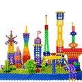 J263 nueva 150cs / lot junta de DIY del copo de nieve Building Blocks ladrillos juguetes educativos tempranos estimular del cabrito imaginación niños regalos
