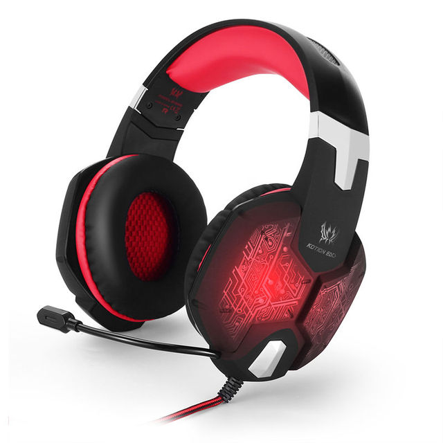 Each g1000 surround sound gaming headset auriculares con cancelación de ruido del micrófono para pc gamer