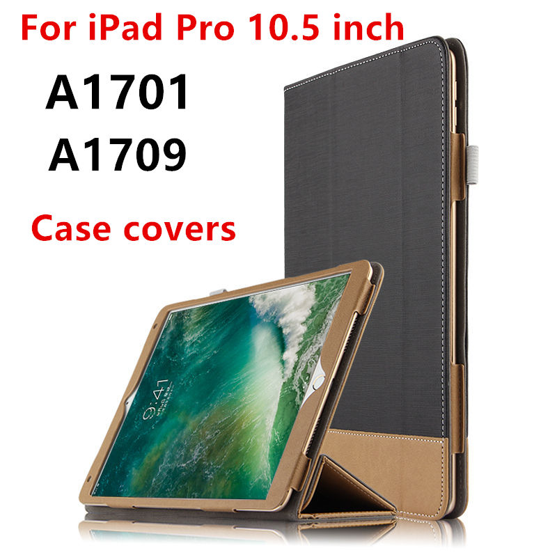 Case Cover For Apple iPad Pro 10.5 New 2017 Protective Smart Cover Leather For ipadpro10.5 Tablet PC Cases PU Protector Sleeve official original 1 1 case cover for apple ipad pro 12 9 2017 cases tpu smart clear cover for ipad pro ipad plus 12 9 2015 case