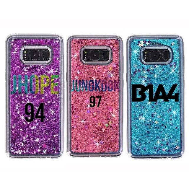 buy online 06f0b 09dc0 US $13.0 |s8 plus glitter case customized liquid stars glitter case  personalized for samsung galaxy s8 plus phone case cover customized-in  Rhinestone ...