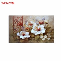 Beautiful Flower Painting By Numbers On Canvas DIY HandPainted Pictures For Home Decor Christmas Gift Coloring
