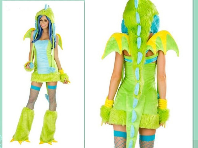 Free Shipping Neon Green Furry Dinosaur Monster Costume Sexy Adult Cosplay Exotic Apparel Halloween Costume for  sc 1 st  AliExpress.com & Free Shipping Neon Green Furry Dinosaur Monster Costume Sexy Adult ...