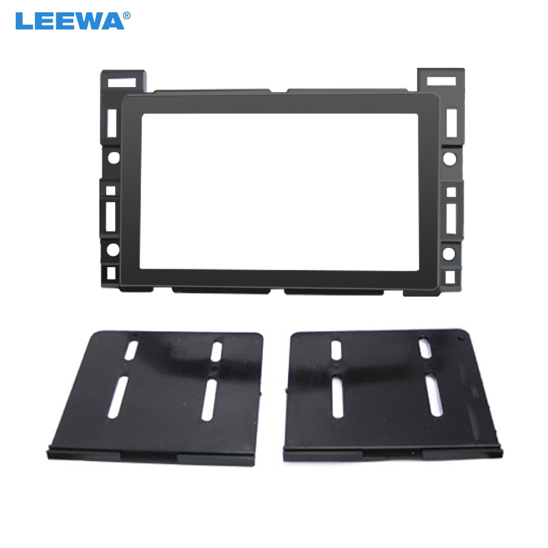 LEEWA Car 2Din Radio DVD Fascia Frame For CHEVROLET Cobalt PONTIAC G5SATURN Aura Stereo Dash Mount Panel Frame Installation|Fascias| |  - title=