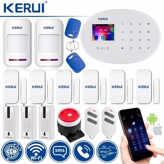 Best Offers KERUI W20 Smart Socket Home Security Alarm System 433MHz Wireless RFID Card APP Remote Control Motion Detector Burglar Alarm